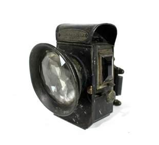 1890s Powell and Hanmer Diamond Light Bicycle Oil Lamp