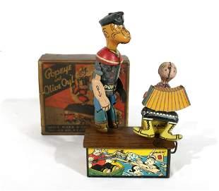 Marx Popeye and Olive Oyl Toy with Box