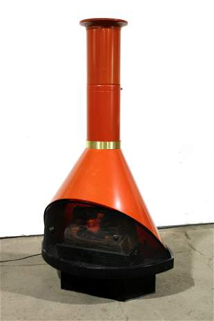 Mid Century Electric Fireplace, Style of Wendell Lovett