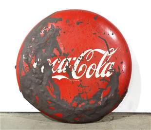 """48"""" Coca Cola Porcelain Button"""
