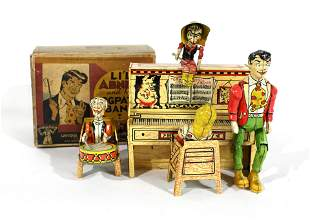 Li'l Abner and His Dogpatch Band Tin Litho Wind Up Toy
