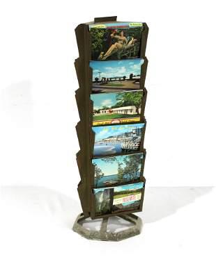 Countertop Metal Postcard Store Display