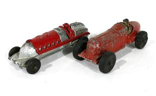Hubley Cast Iron Race Cars #22 and #5