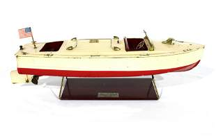 1930s Lionel-Craft Speed Boat on Stand