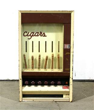 Cigar 25 Cent Coin Operated Vending Machine
