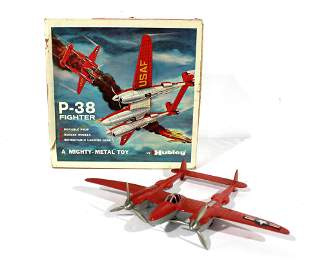 Hubley P-38 Fighter Airplane in Box