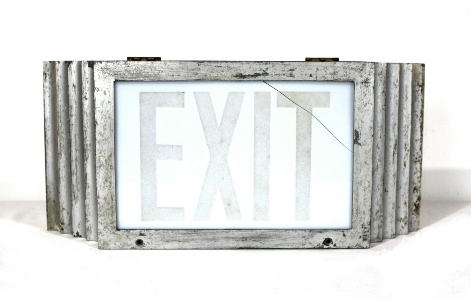 Scalloped Metal Exit Sign