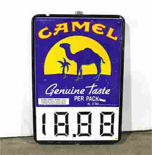 Camel Cigarettes Metal Store Sign
