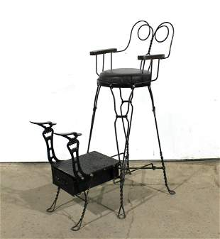 Royal Chicago Products Wrought Iron Shoe Shine Stand