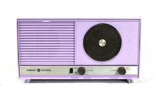 1950s General Electric AM/FM Lavender Painted Radio