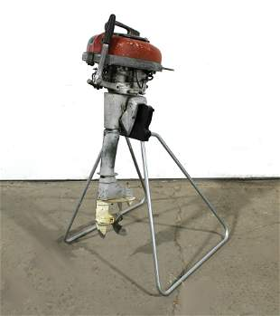 Mercury Outboard Motor on Stand