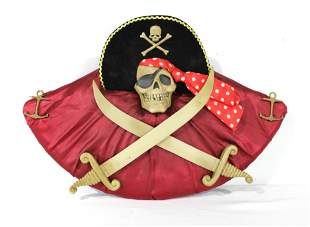 LE Disney Pirates of the Caribbean Skull Wall Plaque