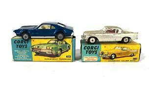 "Corgi Studebaker ""Golden Hawk"" and Oldsmobile Toronado"