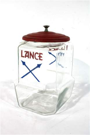 Early Lance Jar With Metal Lid