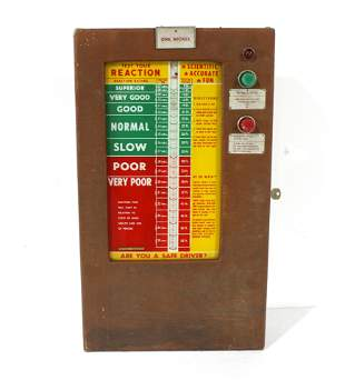 """1950s Coin Operated """"Test Your Reaction"""" Game"""