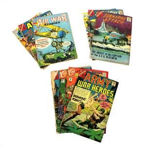 War Themed Comic Inc. Submarine Attack