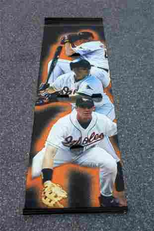 8 FT Baltimore Orioles Light Post Vinyl Banner