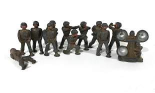 Group of Twelve Vintage Cast Iron Soldiers