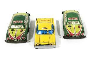 Tin Litho Taxi and G-Men Cars