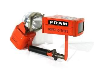 1950s-60s Fram Inspect-O-Scope Air Filter Check Light