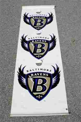 8Ft Baltimore Ravens Football Lightpost Banner