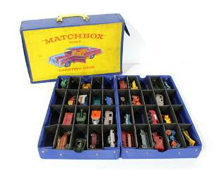 1965 Matchbox Carrying Case with Assorted Matchbox Cars