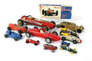 Collection of Bullet Race Cars incl. Marx, Tootsie and