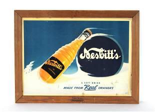Nesbit's Soda Framed Advertisement