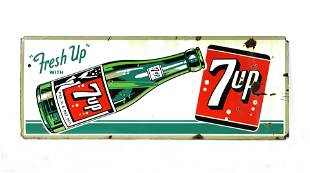 Porcelain 7-UP Advertising Sign, 1951