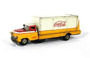 Allen Haddock Co. Coca Cola Tin Truck Toy, 1960s