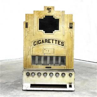 Rowe Art Deco Coin Operated Cigarette Vending Machine