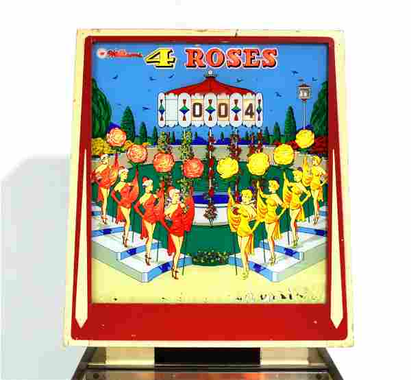Williams Four Roses Reverse Wedgehead Pinball Machine