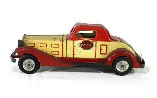 1930s Marx Emergency Tin Car Toy