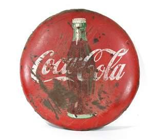 """36"""" Porcelain Coca Cola Button"""