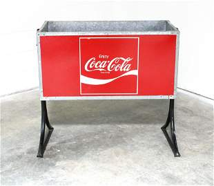 Coca Cola Ice Cooler Chest on Stand