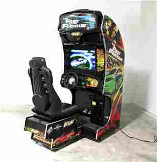 Raw Thrills Fast and the Furious Sit Down Racing Arcade