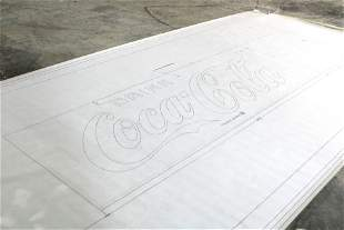 """Coca Cola Arch. Drawing """"Coca Cola for Red Background"""""""