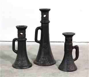 Cast Iron Antique Railroad Bottle Jacks for Railroad