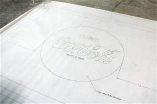 "Coca Cola Blueprint, ""Santo Domingo Export Coolers"""
