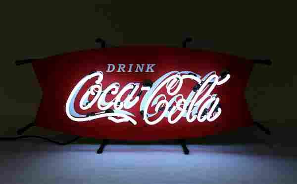 Coca Cola Fishtail Neon Sign