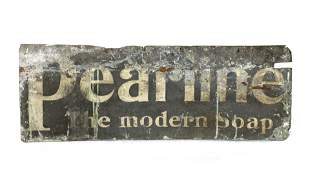 Early Pearline Soaps Advertising Sign