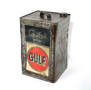 Gulf Oil 5 Gallon Can