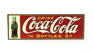 Drink Coca Cola in Bottles Advertising Sign