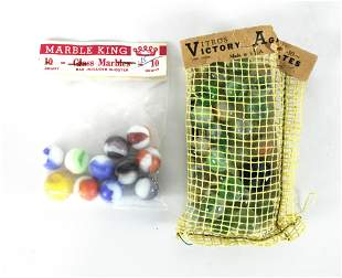 Marble King and Vitro's Victory Agates Marble Bags