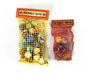 """Two Marble King Net Bags with """"Sunshine Rippled Wheat"""""""
