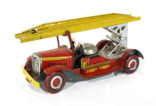 Tin Fire Engine, Made in Great Britian, 1920s