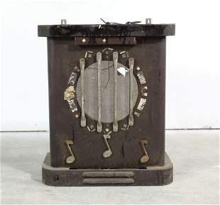 1940s Packard Rose Auxiliary Jukebox Speaker Shell