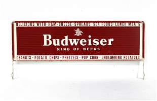 Budweiser Store Rack Top Sign