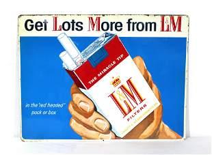 L&M Cigarettes Tobacco Advertising Tin Sign