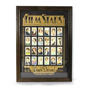 Original Cigarette Cards of Film Stars Framed Art
